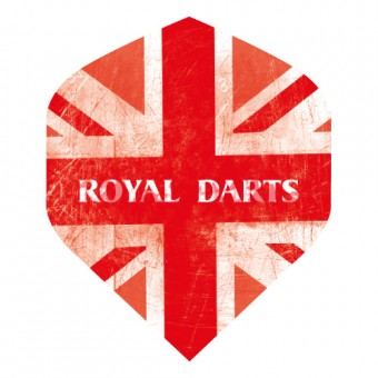 Royal Darts Flight Union Jack rot