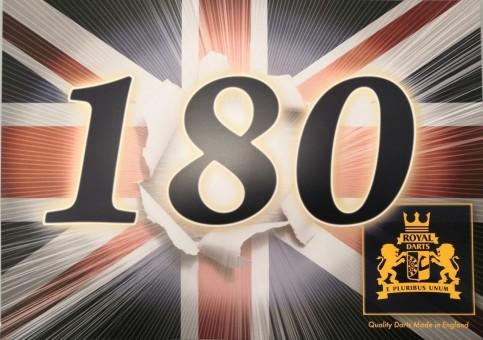 20 x 180er Schild Royal Darts