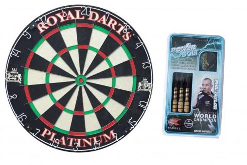 Royal Darts Dartboard PLATINUM Start-Set Phil