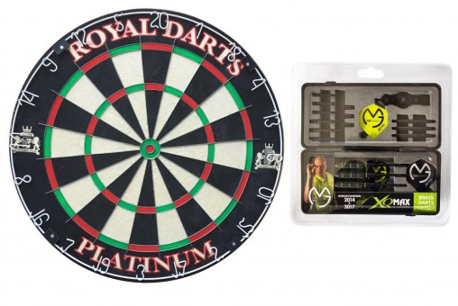 Royal Darts Dartboard PLATINUM Starter-Set Mike