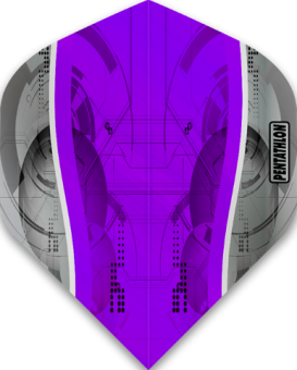 Pentathlon Flights Silver Edge Standard Purple
