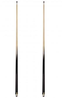 Sparset Billardqueues im 2er Set mit 10 Ersatz-Schraubledern 140 cm | 140 cm