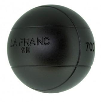 Boulekugeln La Franc SB (Soft Black) 75 710,1 | mit Holzkoffer
