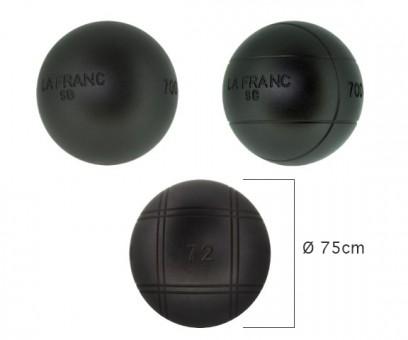 Boulekugeln La Franc SB (Soft Black) 75