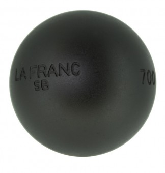 Boulekugeln La Franc SB (Soft Black) 76 700,0 | ohne Holzkoffer