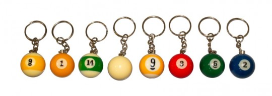 Schlüsselanhänger ARAMITH Billard #1