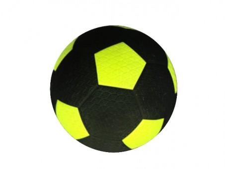 Fussball Street Soccer schwarz/gelb Gummi