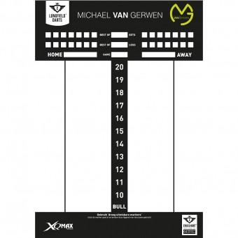 Michael van Gerwen Scoreboard 45 x 30 cm