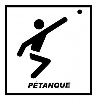 Petanqueaufkleber Leger
