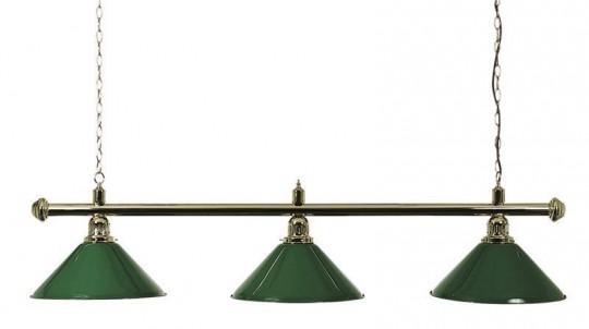 Billardlampe 3-flammig grün