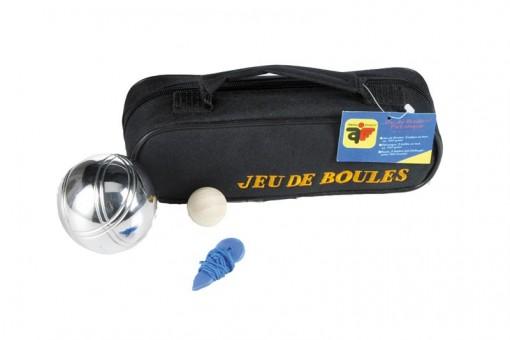 Boulekugel-Set 3 Stück in Reissverschlusstasche