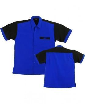 Bulls Dartshirt blau-schwarz-SALE S