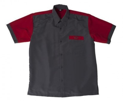 Bulls Dartshirt grau-rot - SALE 3XL