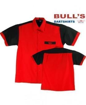 Bulls Dartshirt rot-schwarz 4XL