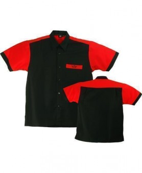Bulls Dartshirt schwarz-rot L
