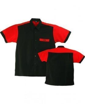 Bulls Dartshirt schwarz-rot M