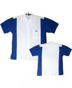 Bulls Dartshirt weiß-blau SALE M