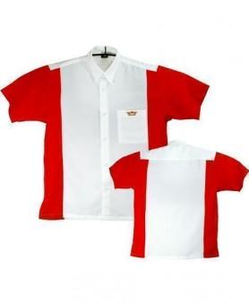Bulls Dartshirt weiß-rot SALE L
