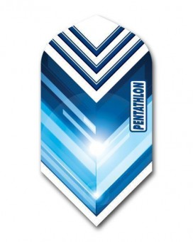 Flight Pentathlon blue and white slim geometric