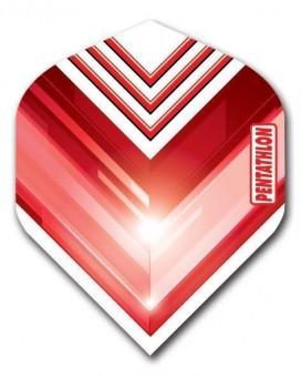 Flight Pentathlon red and white standard geometric