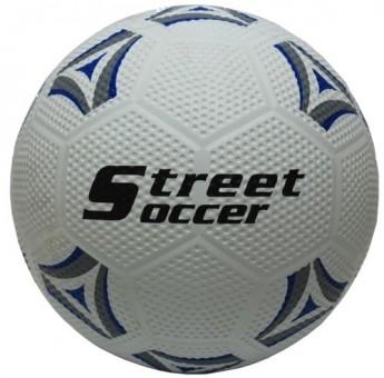 Fussball Street Soccer weiss/blau/grau