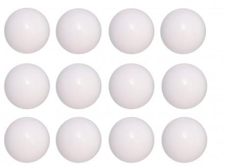 Kickerbälle 12 Stück Standard weiß