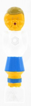 Kickerfigur Standard weiß/blau 5 Stück