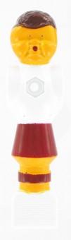 Kickerfigur Standard weiß/rot 5 Stück