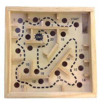 Labyrinth Holz 12 x 12 cm