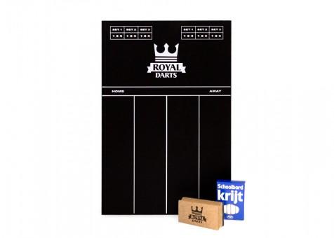 Royal Darts Kreidetafel mit Kreide und Schwamm