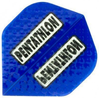 Pentathlon Flight blue embossed