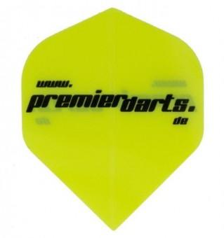 Premierdarts Logo Flight neon-gelb 10er Pack