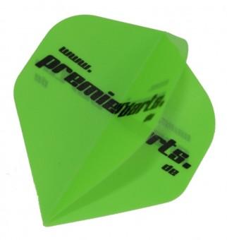 Premierdarts Logo Flight neon-grün 10er Pack