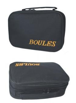 Premiergames Reissverschlusstasche für 6 Boulekugeln