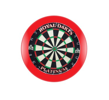Royal Darts Dartboard PLATINUM inkl. rotem Surround