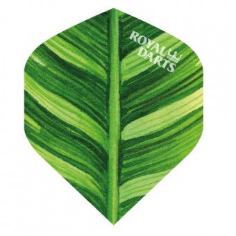 Royal Darts Flights Green Line Leaf Painted