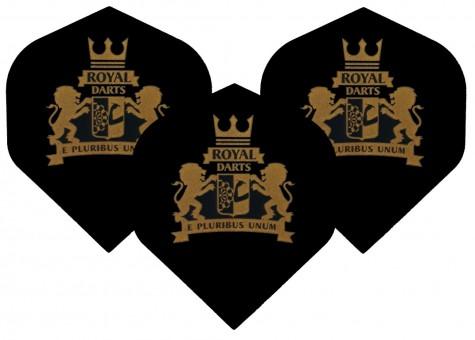Royal Darts Logo Flight NEW transparent black
