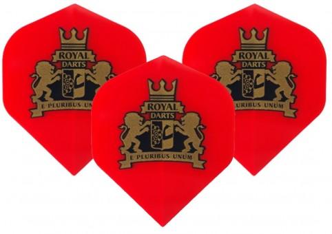 Royal Darts Logo Flight NEW transparent red