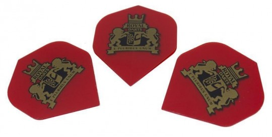 Royal Darts Logo Flight NEW transparent red