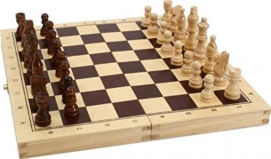 Schach-, Backgammon-, Dame-Kassette