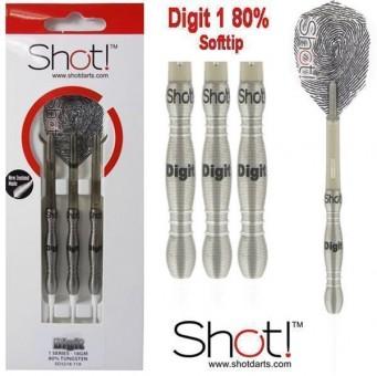 Shot! Digit 1 Series 25g Steeldarts