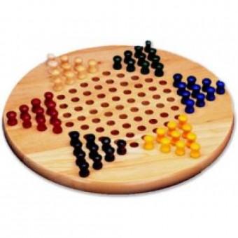 Sternhalma Spiel rund Holz natur
