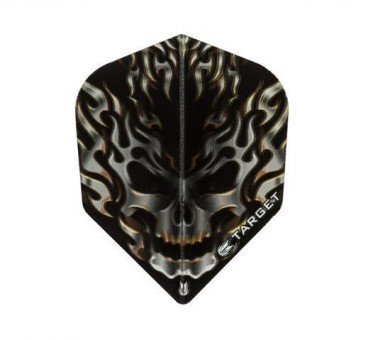 TARGET VISION BLACK FLAMING SKULL NO6 STD FLIGHT