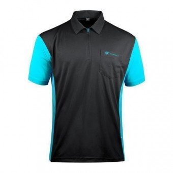 Target Coolplay Hybrid 3 Darthemd black & aqua blue 4XL