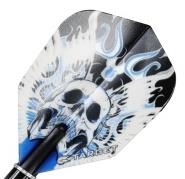 Target Flight Vision Blue Winged Skull