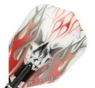 Target Flight Vision Red Flame Skull