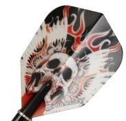 Target Flight Vision Red Winged Skull