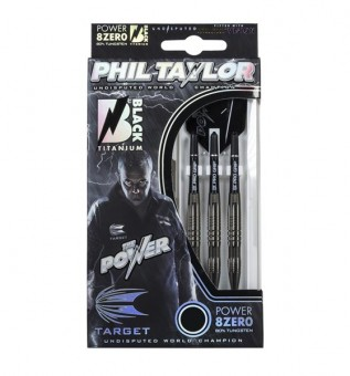 Target Phil Taylor POWER 8ZERO 24G  Black Titanium Steeldarts
