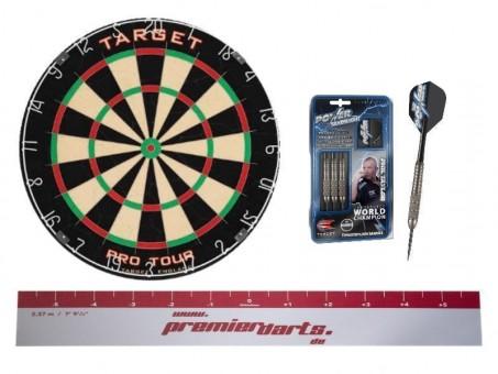 Target Starter Set Phil - Dartscheibe + Darts + Abwurflinie