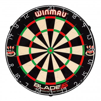 Winmau Blade 5 Dartboard inkl. zwei Phil Taylor Dartsets und Checkout Card